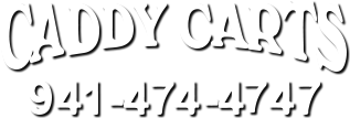 Caddy Carts logo with phone number image