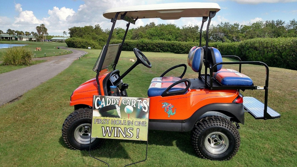 red gators themed golf cart image