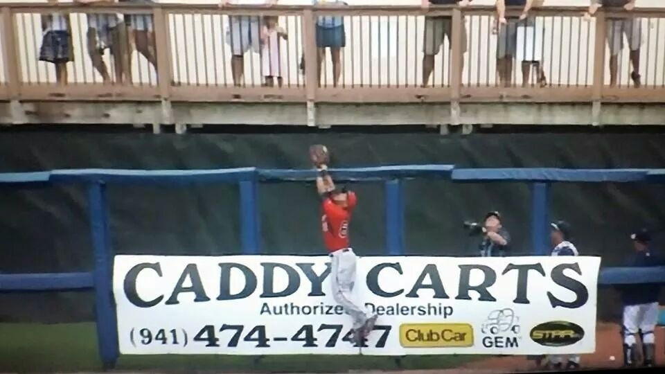 Caddy Carts ad at baseball stadium image