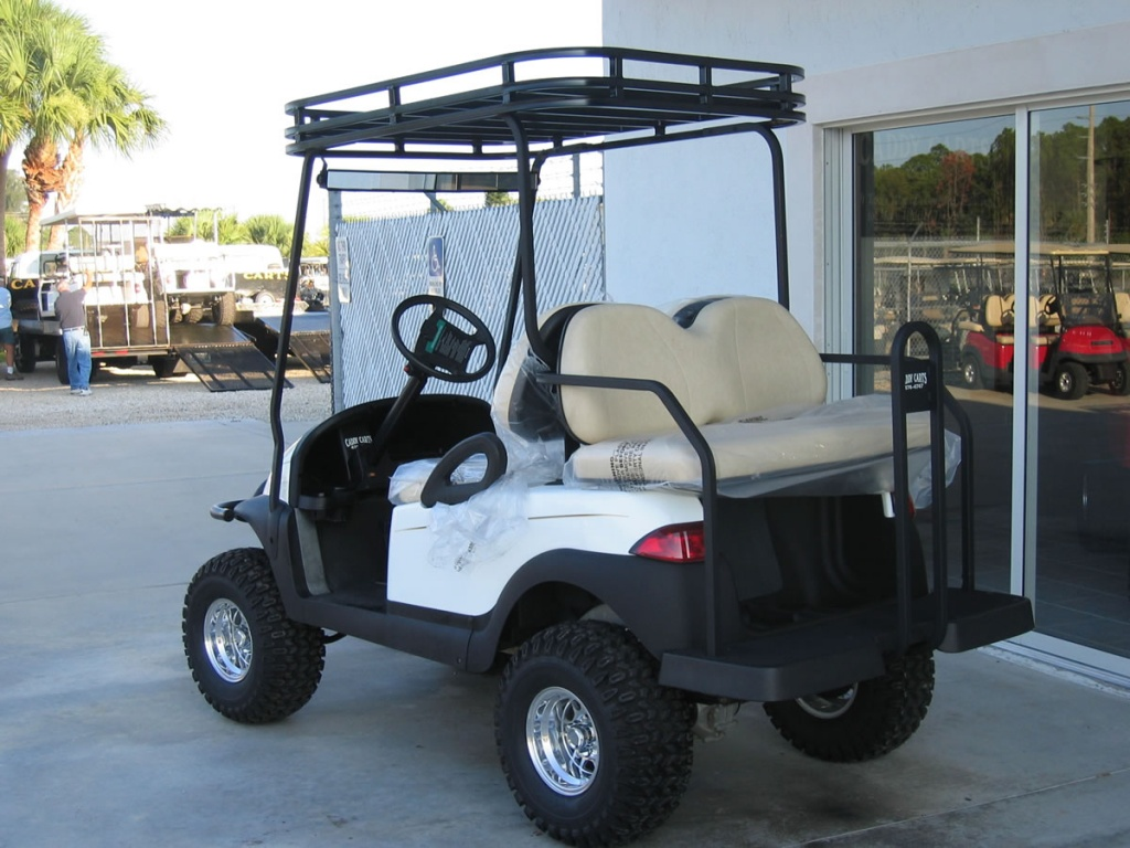 White golf cart image