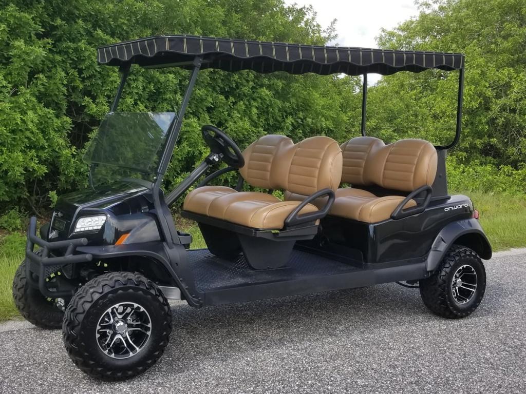 black golf cart image