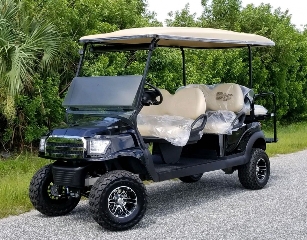 Black golf cart image