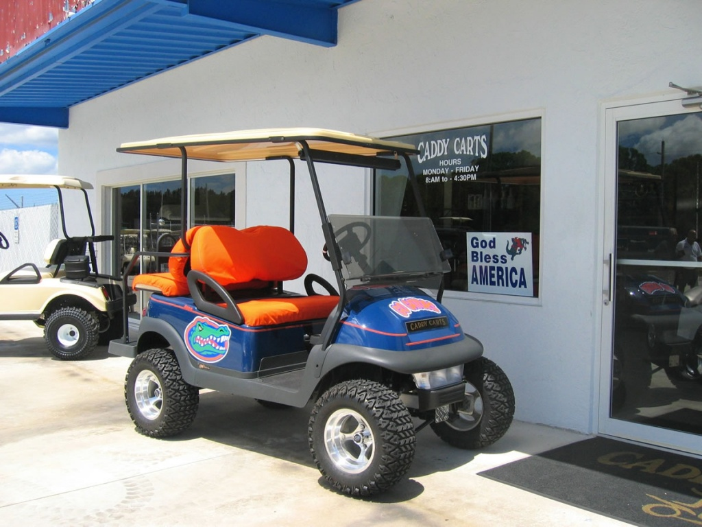 Florida Gators themed golf cart image