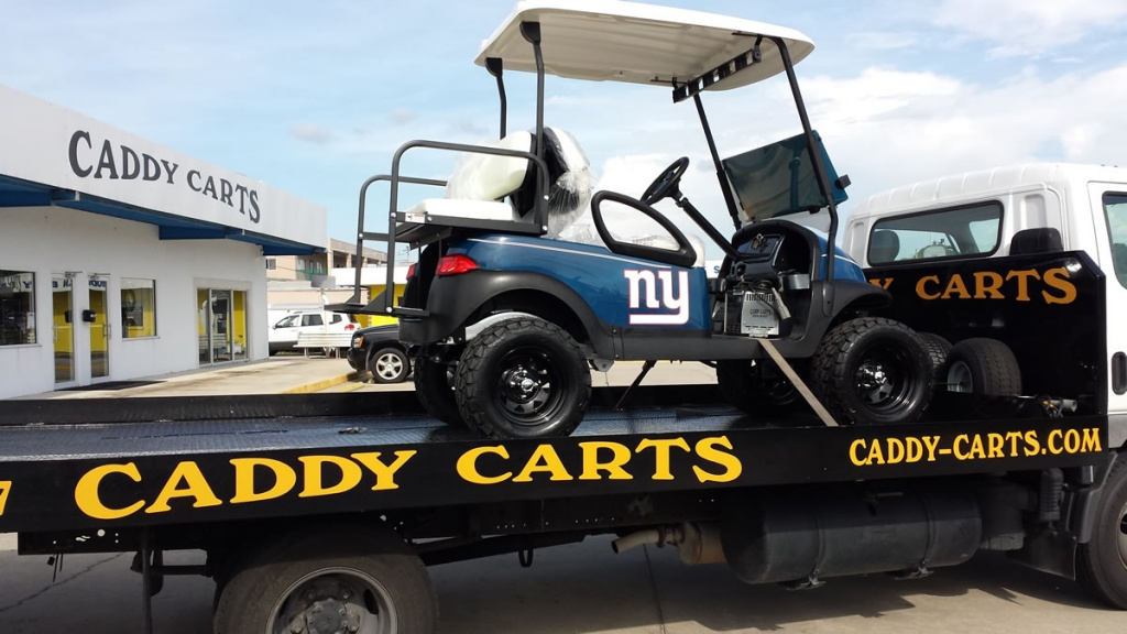 New York Giants themed golf cart image