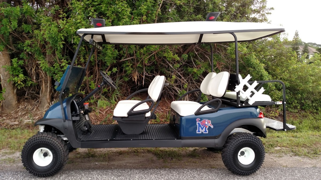 Missouri tigers themed golf cart image