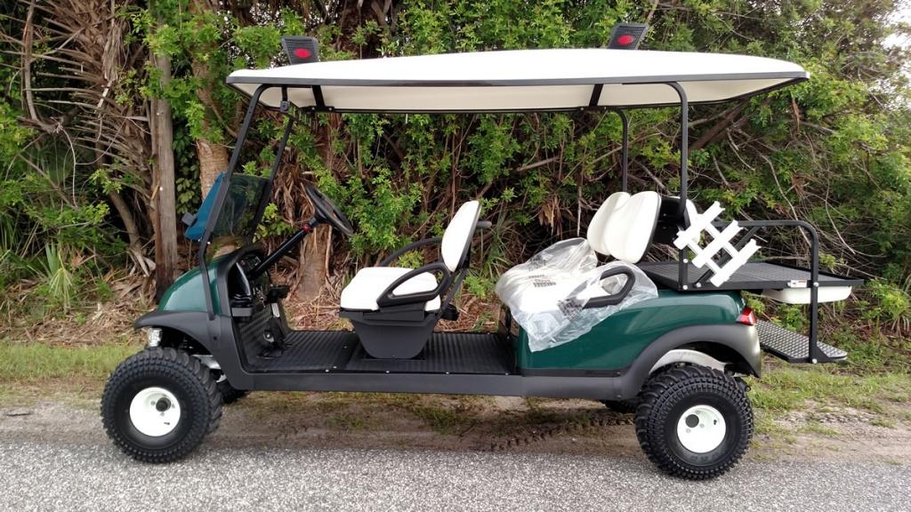 Green golf cart image