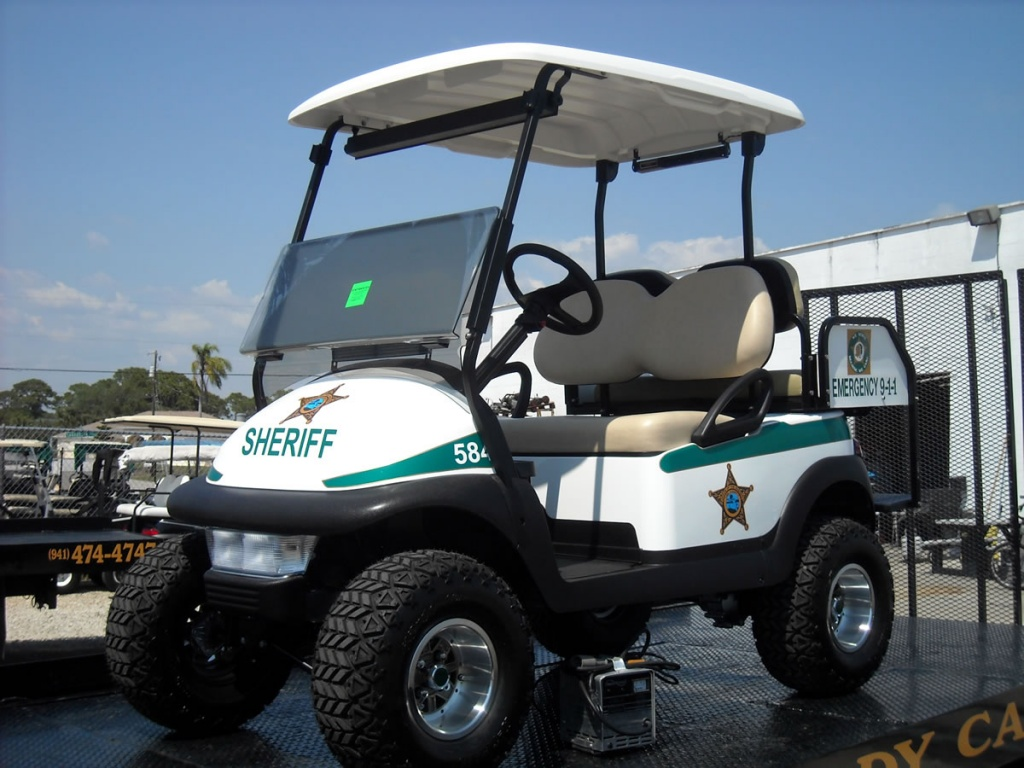 Sherrif golf cart image